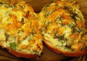 Горячие бутерброды с пюре