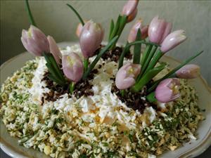 """Салат """"Цветы весны"""""""