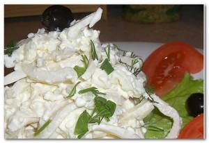 Рецепт салата из кальмаров